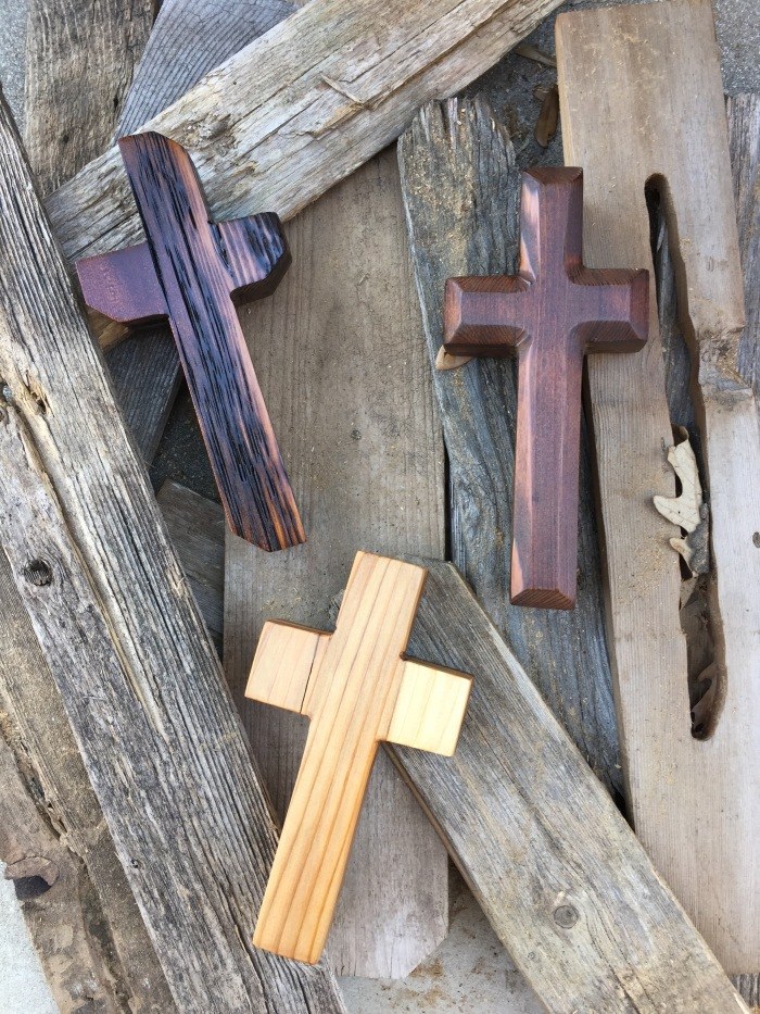 small wood crosses