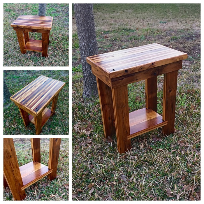 strip top end table