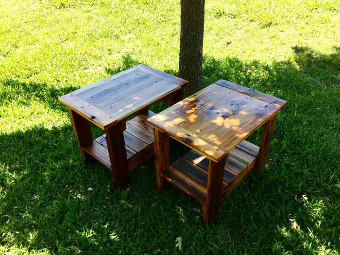 rustic end tables 2