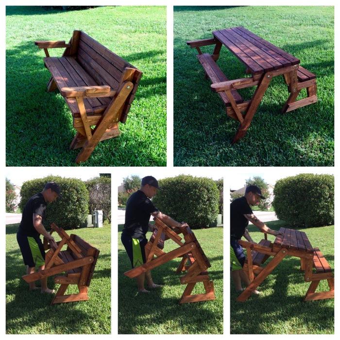 Conv picnic table